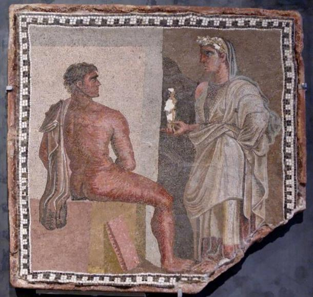 Mosaic of Orestes, main character in Aeschylus's only surviving trilogy, 'The Oresteia'.