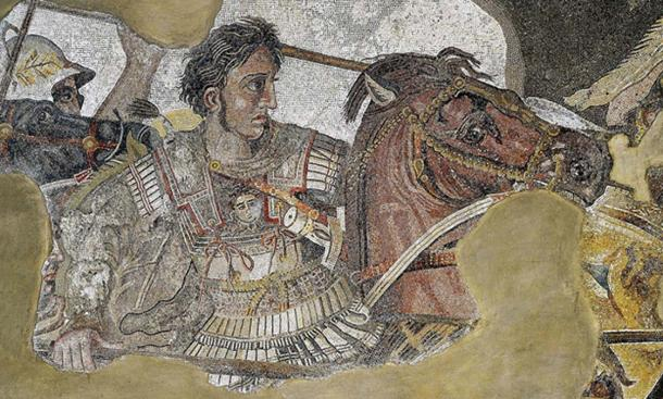 The detail of the Alexander Mosaic showing Alexander the Great. (Public Domain)