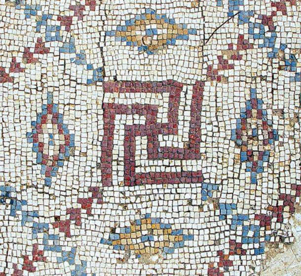 Mosaic swastika in excavated Byzantine church in Shavei Tzion (Israel). (CC BY-SA 3.0)