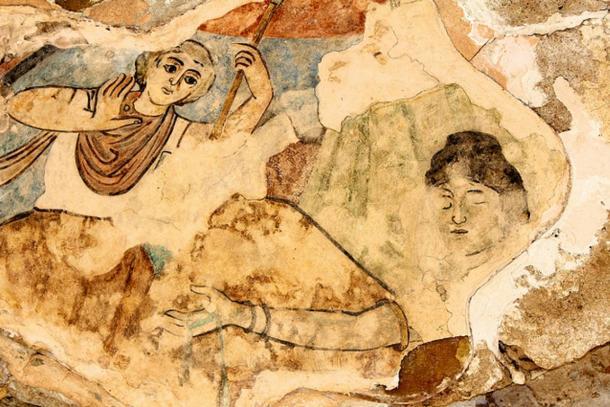 Mosaic at the Roman ruins of Salamis.