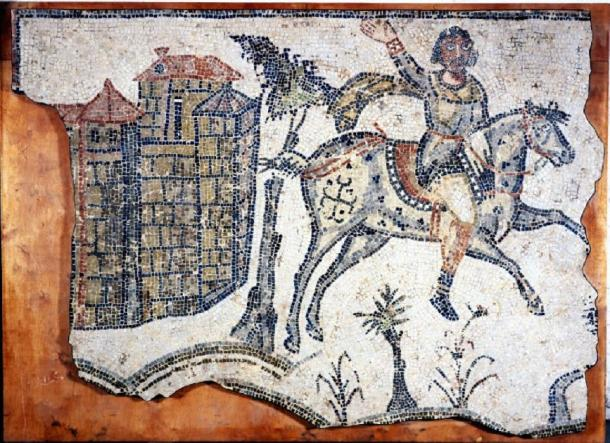 Mosaic pavement from British museum. Excavated at Bordj-Djedid in 1857 (Africa, Tunisia, Carthage). Date: 5thC (late)-6thC (early). Culture: Vandal or late Roman. (Public Domain)
