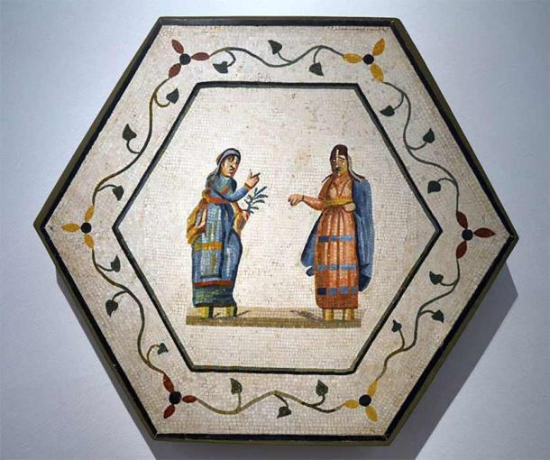 Mosaic with two actors in a tragic scene. Antikensammlung Berlin ( Marcus Cyron /CC BY-SA 3.0)