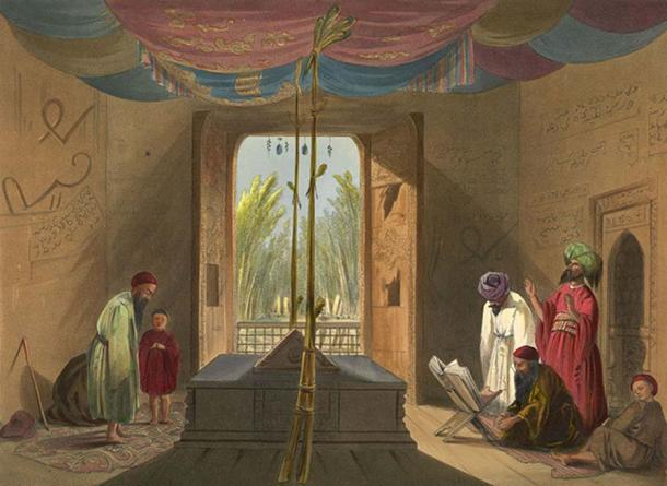 Mosque and Tomb of the Emperor Soolta Mahmood of Ghuznee by Lietenant James Rattray.circa 1839