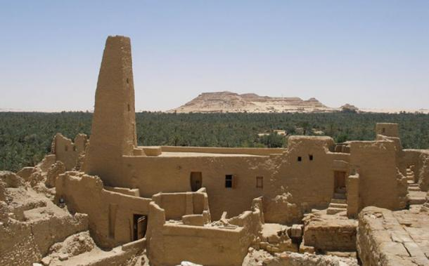 Mosque near the famous Temple of Amun at Siwa Oasis in Egypt.