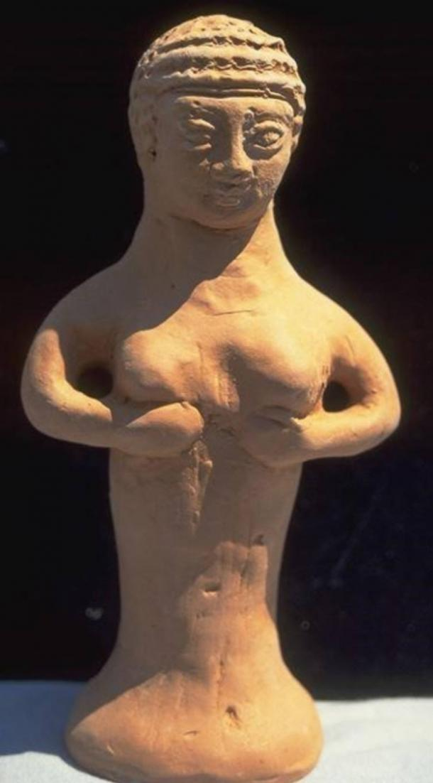 A small votive statue of the Mother Goddess of Asherah