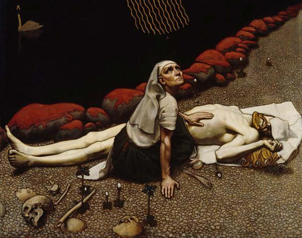 'Lemminkäinen's Mother' (1897) by Akseli Gallen-Kallela.