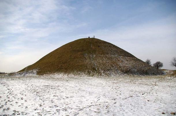 Mound Krakus in winter.