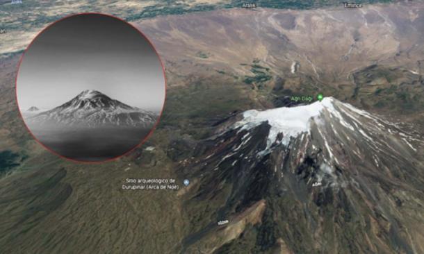 Mount Ararat. (Screenshot via Google Maps/Flickr / Arman Ayva)