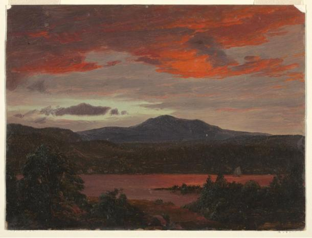 'Drawing, Mount Katahdin from Lake Katahdin, Maine, ca. 1853' by Frederic Edwin Church.
