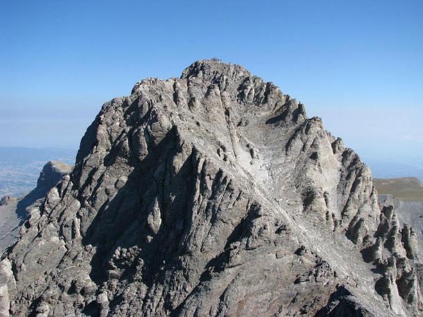 Mount Olympus' highest peak, Mytikas.