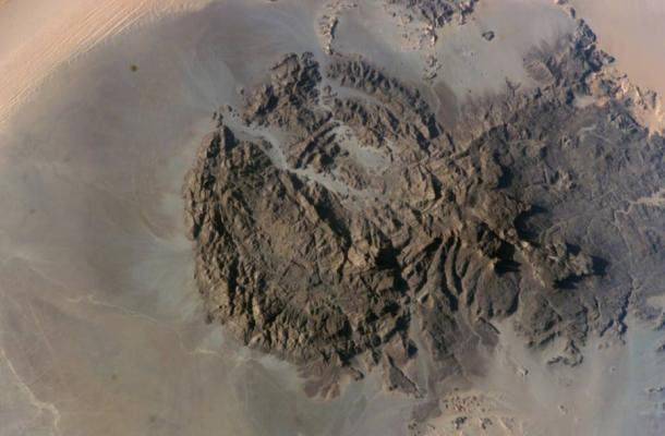 Mount Uweinat in the eastern Sahara, the area in which the dried lakes were identified