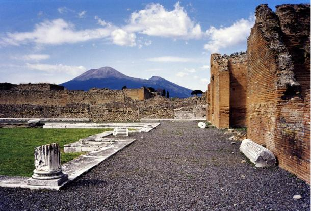 Mount Vesuvius as seen from Pompeii.