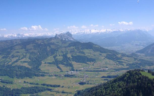 Mountains in the canton of Zug, near where the battle was fought.