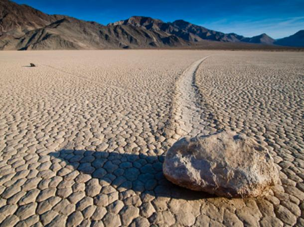 Moving rocks at Racetrack Playa.