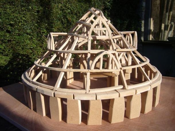 Ms. Ewbank's model without the roofing