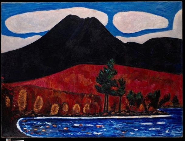 'Mt. Katahdin (Maine), Autumn #2' (CC0) Did the woman and her son in the Native American legend disappear to Mount Katahdin?