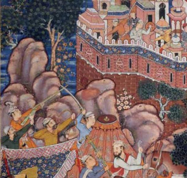 Mughal musket and siege. (CC BY SA 4.0)