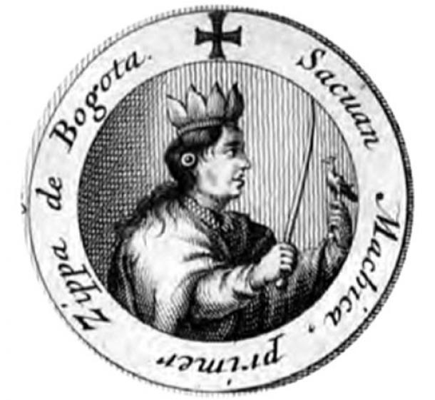 Muisca ruler Saguamanchica. (Saori Sama / Public Domain)