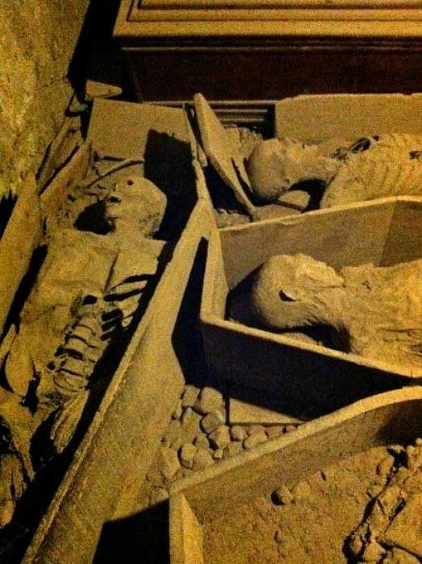 Mummies in the St. Michan's Church crypt. (Jennifer Boyer/CC BY 2.0)
