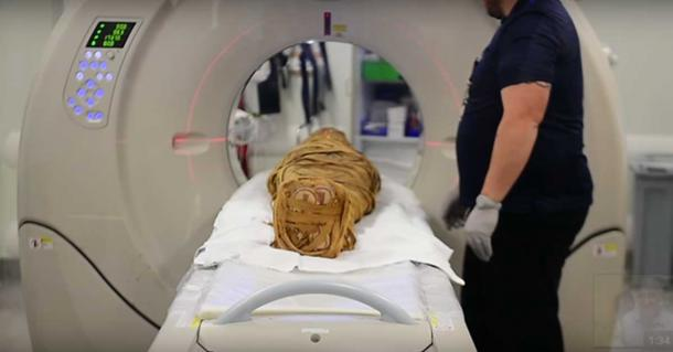 Mummy has now been scanned by a 320 detector CT scanner.