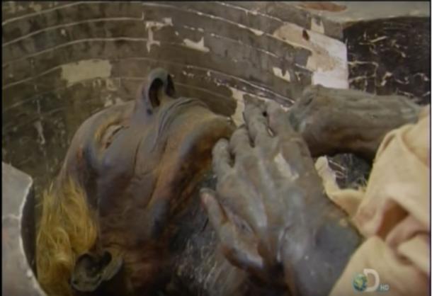 Mummy of Yuyu also had blond hair. (YouTube Screenshot)