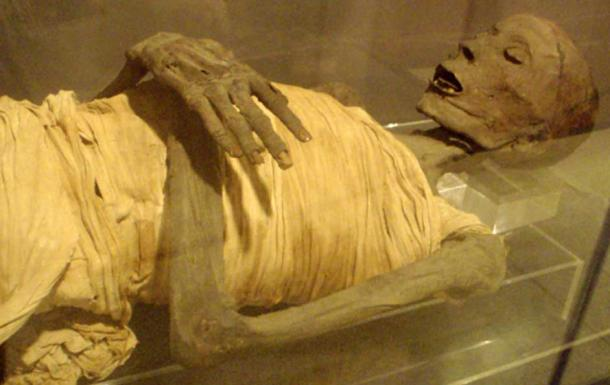 Mummy of an upper-class Egyptian male from the Saite period.