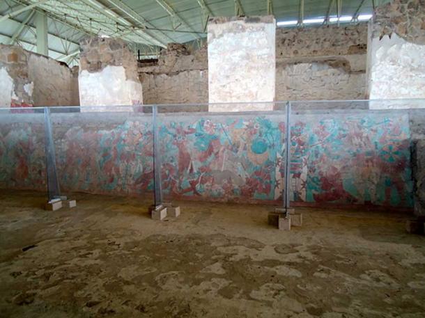 Mural in the Cacaxtla ruins. (Erickin Kirin/CC BY SA 3.0)