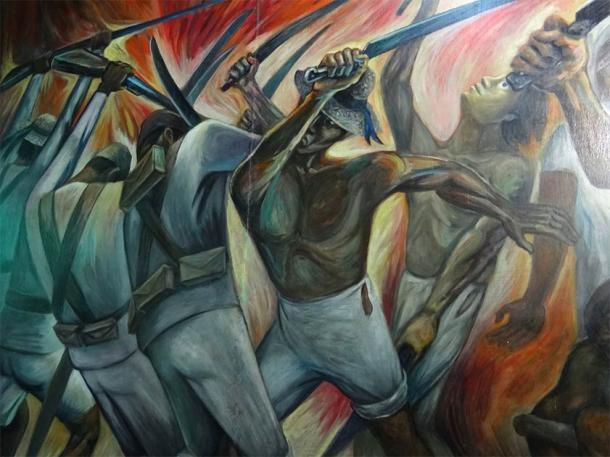 Mural of the War of the Castes which can be visited at the Municipal Council Building in Valladolid, Yucatan. (Adam Jones, Ph.D. / CC BY-SA 3.0)