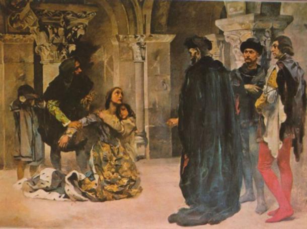 Murder of Inês de Castro. Painting by Columbano Bordalo Pinheiro, ca. 1901/04.