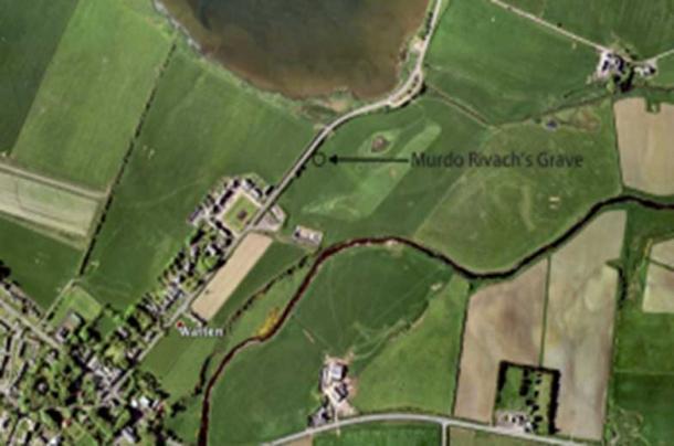 Location of Murdo Rivach's grave.