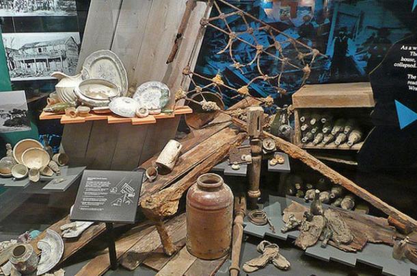 Museum Exhibit At Te Wairoa
