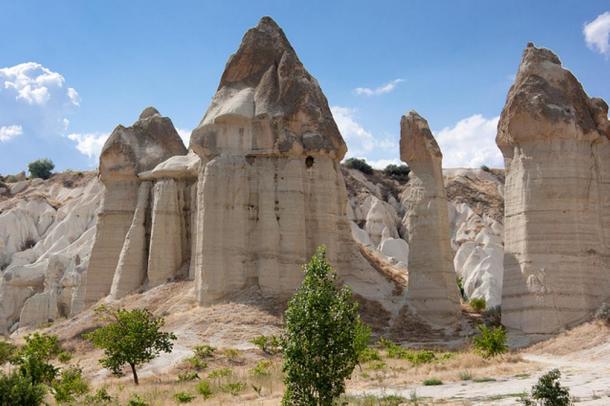 Mushroom rock formations in Turkey.