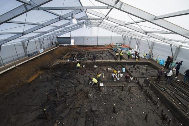 Excavations at the Must Farm site.
