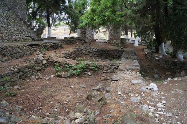 Mycenean Palace foundations at Orchomenus.