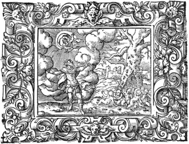 Myrmidons; People from ants for King Aeacus. Engraving by Virgil Solis for Ovid's Metamorphoses Book VII, 622-642. (Public Domain)