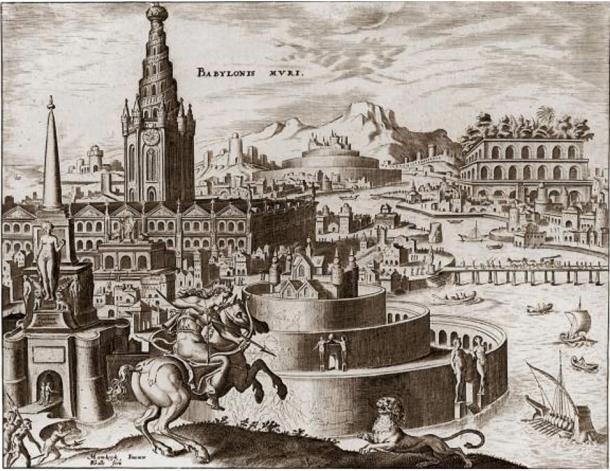 "Illustration of the ""Mythical Hanging Gardens of Babylon"" (1901)"