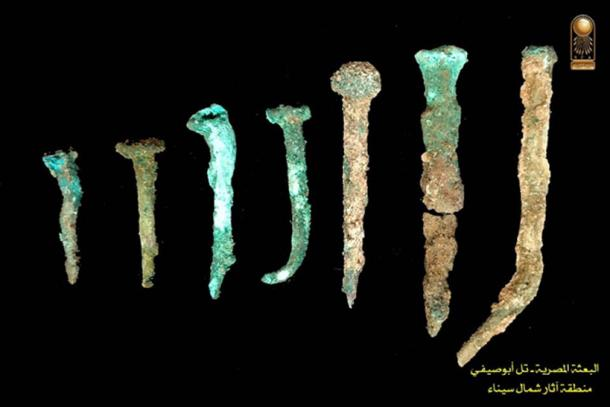 Nails found at the site. (Ministry of Antiquities)