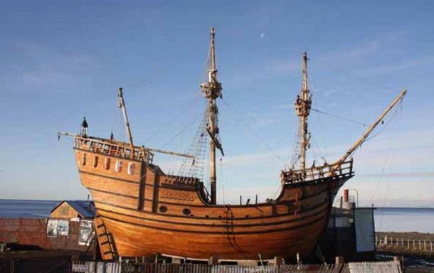 Nao Victoria, Magellan's boat replica in Punta Arenas, Chile.