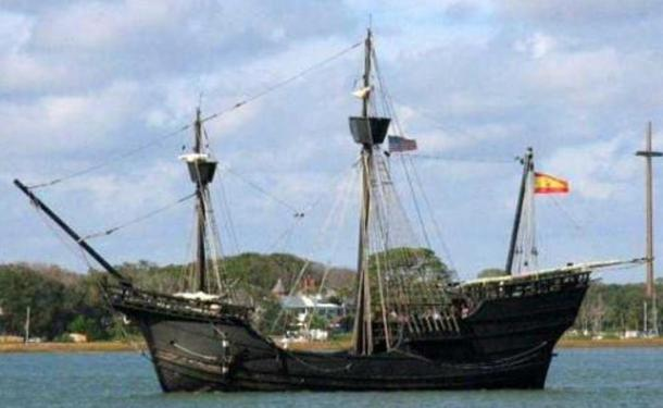 The Nao Victoria, a modern replica of a 16th century Spanish carrack.