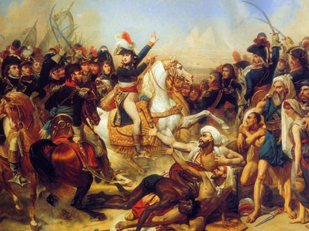 Napoleon at the Pyramids in 1798. This is an 1810 oil on canvas by Antoine-Jean Gros