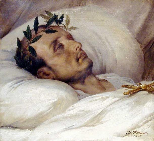 Napoleon on His Death Bed, by Horace Vernet, 1826.