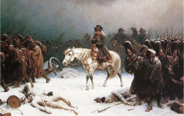 Napoleon's retreat from Moscow, a painting by Adolf Northern