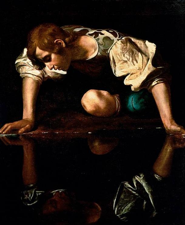 'Narcissus' (1594-1596) by Caravaggio.