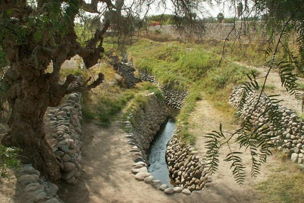 Nasca irrigation canals.