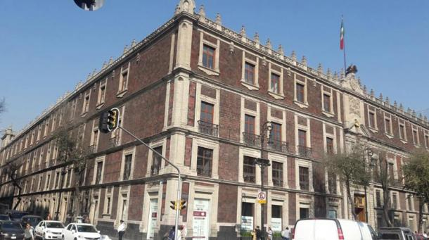The National Mount of Piety building in Mexico City under which researchers discovered the Aztec temple complex