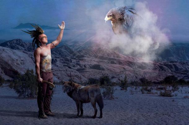 Native American Indian praying for dead ancestors. (Cisek Ciesielski / Adobe)