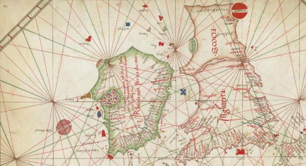 The  Nautical chart of Western Europe (1473) shows Hy-Brasil in a circular shape