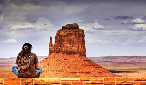 Navajo Girl, Navajo Reservation, Window Rock, Arizona