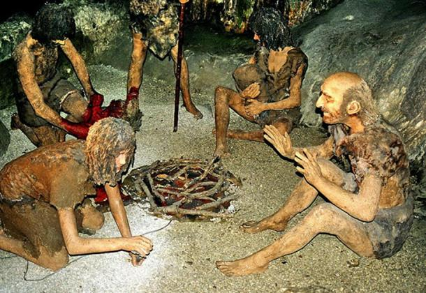 """""""Neanderthals"""" in St. Michael's Cave – Gibraltar."""