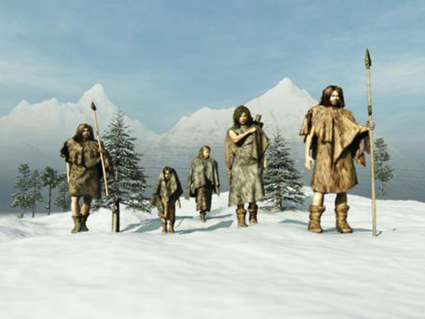 Neanderthals in the Ice Age. (anibal /Adobe Stock)